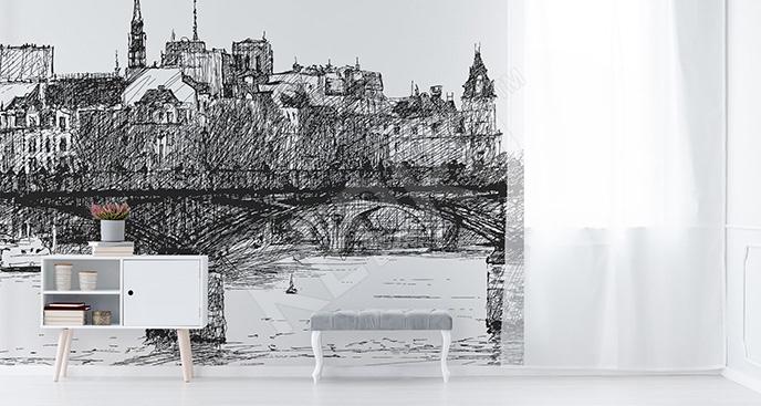 Fototapeta szkic Paryża