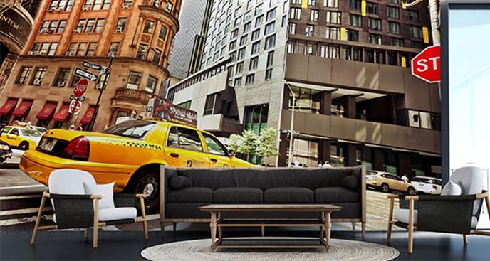 Fototapeta taksówka do salonu