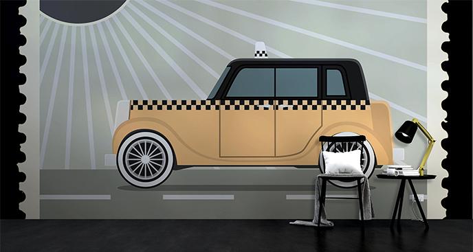 Fototapeta taksówka retro
