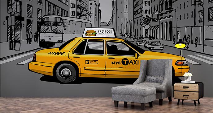 Fototapeta taksówka w Nowym Jorku
