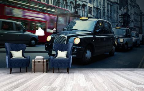 Fototapeta taksówki w Londynie