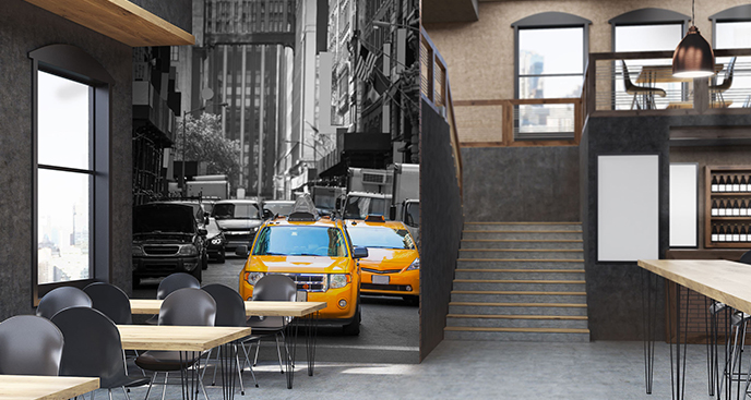Fototapeta taxi na Piątej Alei