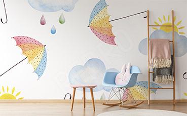Fototapeta tęczowe parasole