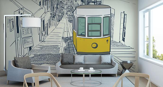 Fototapeta tramwaj dla nastolatka