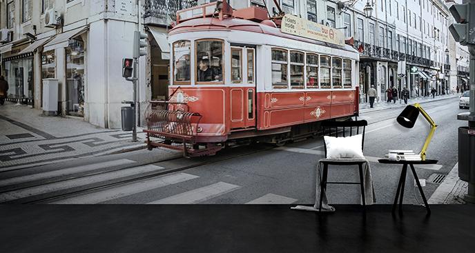 Fototapeta tramwaj do przedpokoju