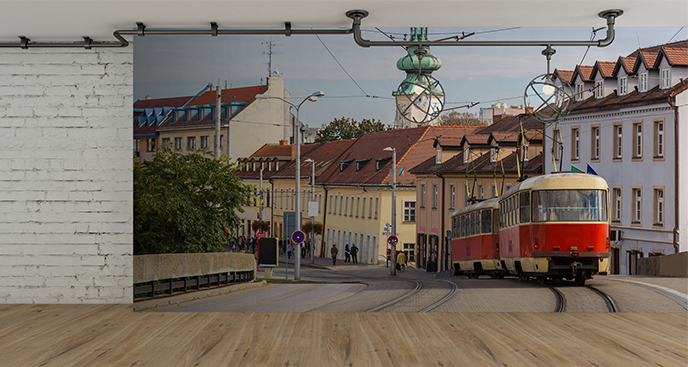 Fototapeta tramwaj na Słowacji