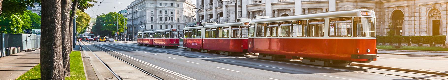 Fototapeta tramwaj w mieście