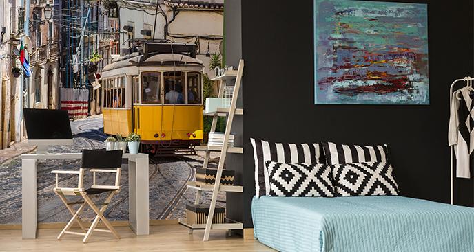 Fototapeta tramwaj w Portugalii
