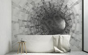 Fototapeta trójwymiarowy tunel