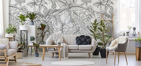 Styl urban jungle w salonie: miejska dżungla w nowej odsłonie