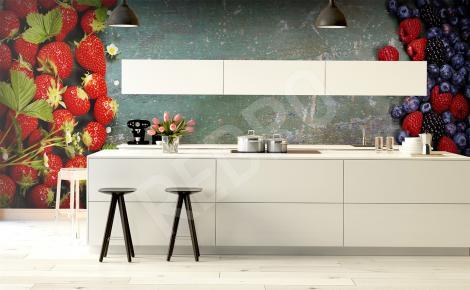 Fototapeta truskawki do kuchni