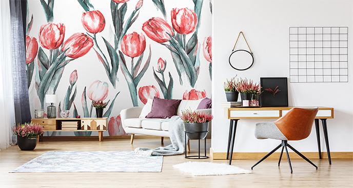 Fototapeta tulipany w czerwieni