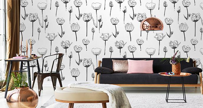 Fototapeta minimalistyczna z tulipanem