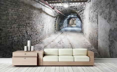 Fototapeta tunel 3D