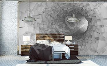 Fototapeta tunel 3D do sypialni