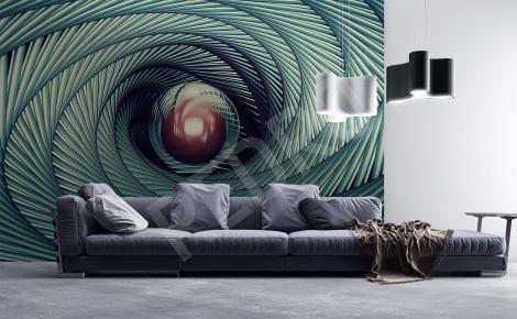 Fototapeta tunel spirala