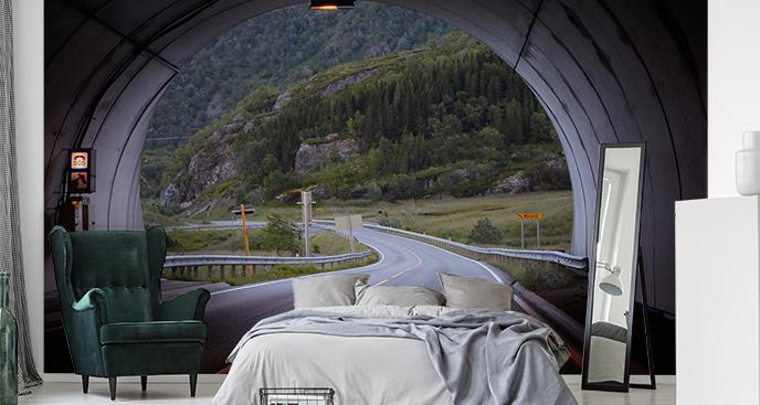 Fototapeta tunel w Norwegii