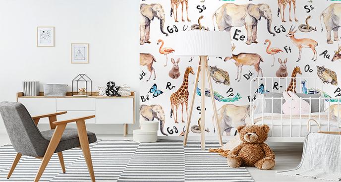 Fototapeta typografia do pokoju dziecka