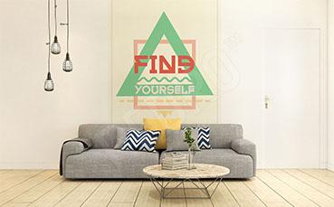 Fototapeta typografia minimalizm