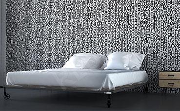 Fototapeta typograficzna czarno-biała