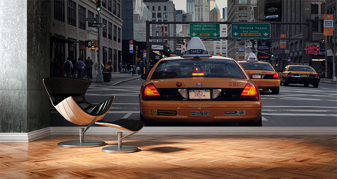 Fototapeta ulica na Manhattanie
