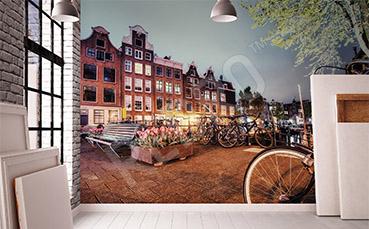 Fototapeta uliczka w Amsterdamie