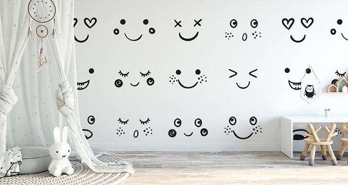 Fototapeta uśmiechnięte emotikonki