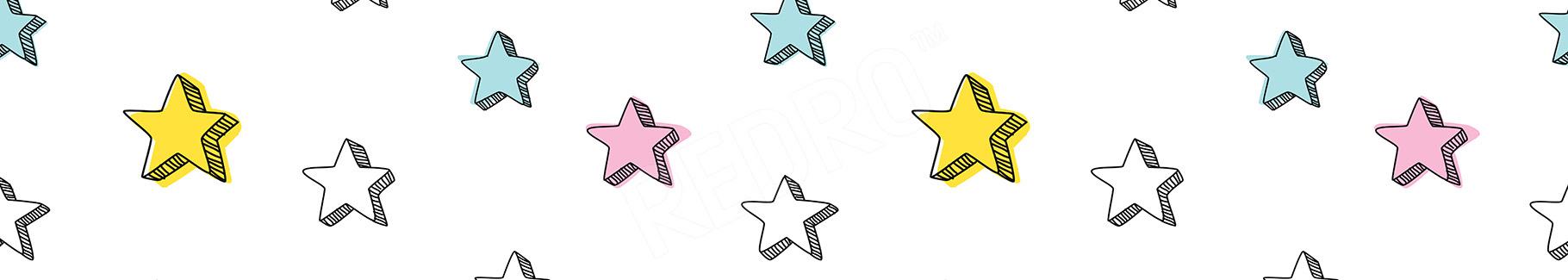 Fototapeta w kolorowe gwiazdki