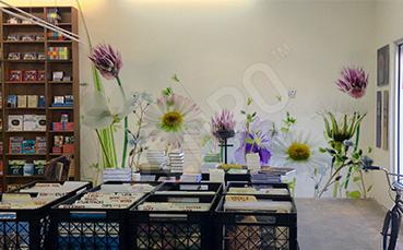 Fototapeta w kwiaty do księgarni