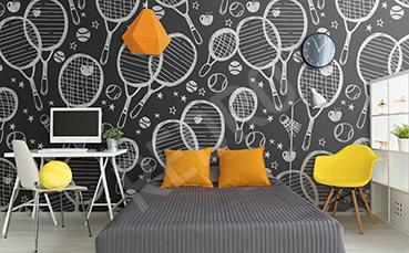 Fototapeta w rakiety tenisowe