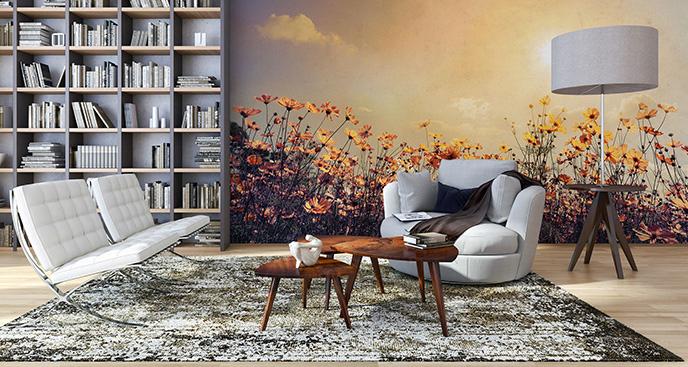 Fototapeta w stylu klasycznym w kwiaty