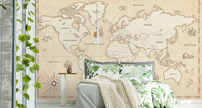 Fototapeta kontynenty z napisów