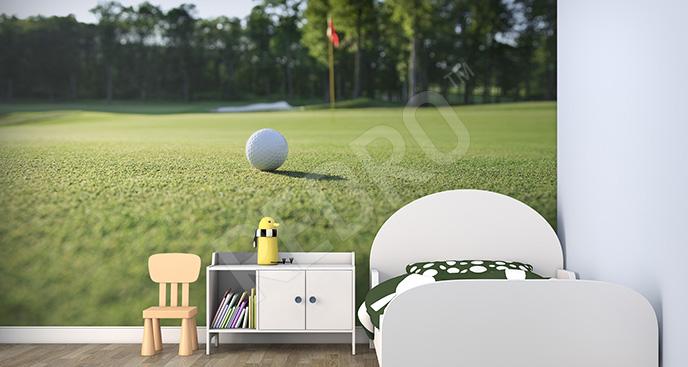 Fototapeta widok na pole golfowe