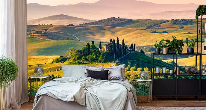 Fototapeta z krajobrazem Toskanii