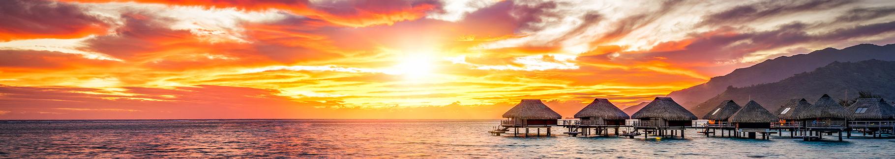Fototapeta widok z zachodzącym słońcem