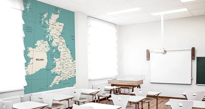 Fototapeta Wielka Brytania na mapie