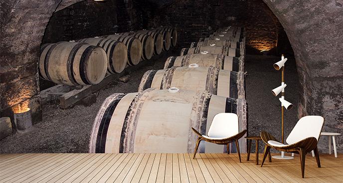 Fototapeta winiarnia francuska