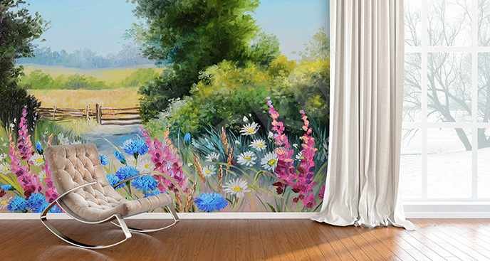 Fototapeta wiosna w kolorach