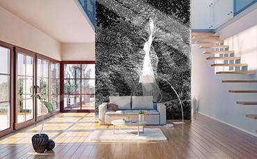 Fototapeta wodospad minimalistyczny