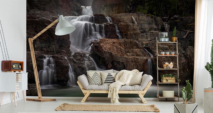 Fototapeta wodospad skalny