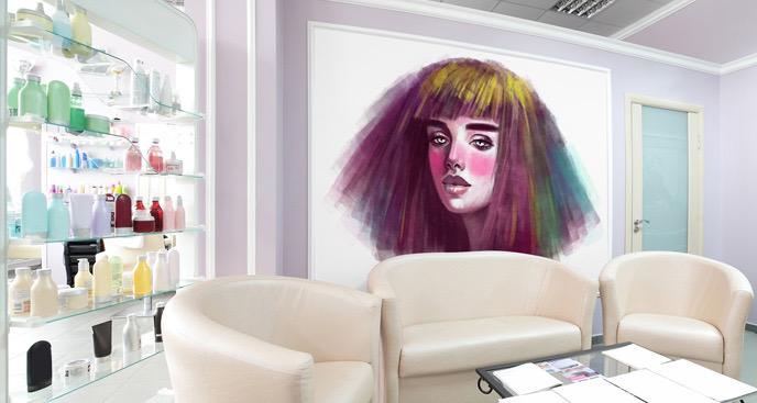 Fototapeta wystylizowana fryzura