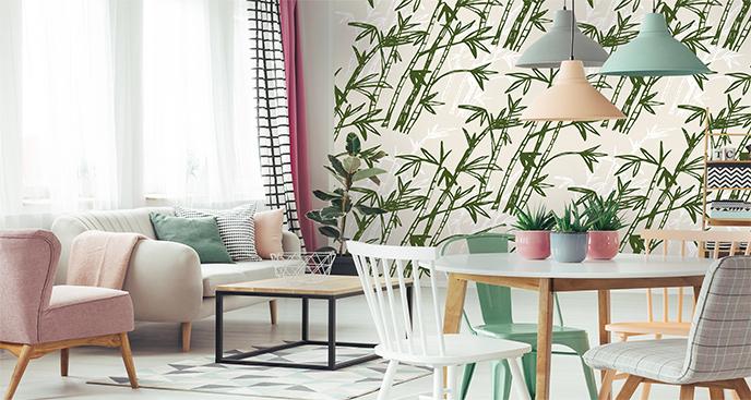 Fototapeta zieleń bambusa