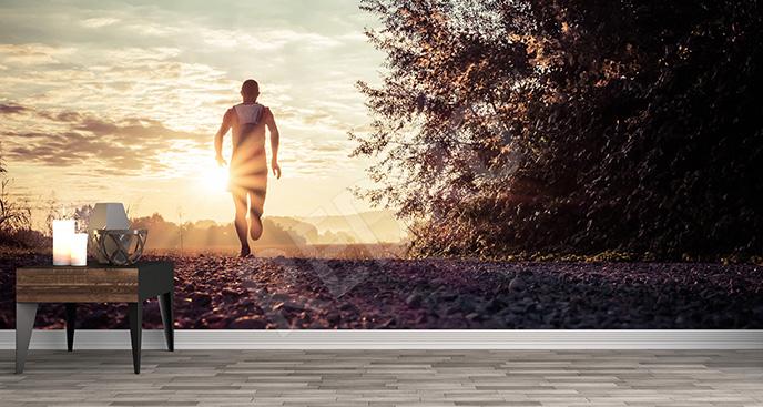 Fototapeta z biegaczem