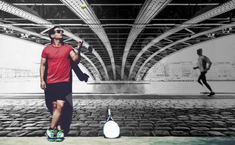 Fototapeta z biegaczem w czerni i bieli