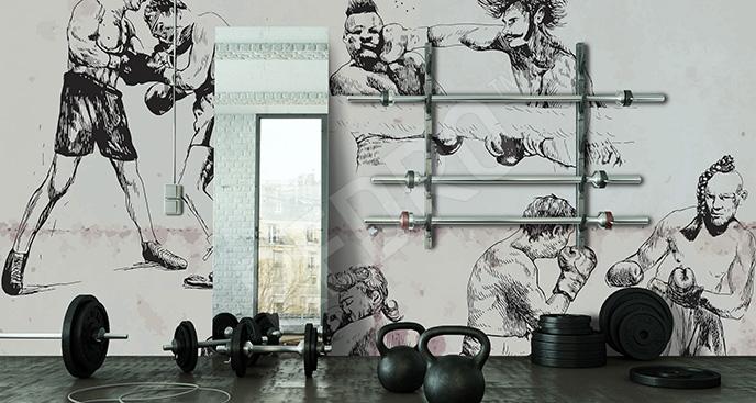 Fototapeta z bokserami