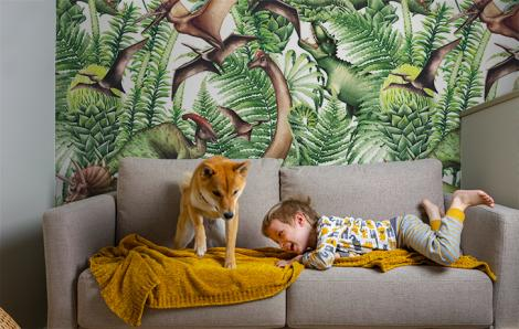 Fototapeta z dinozaurami dla chłopca