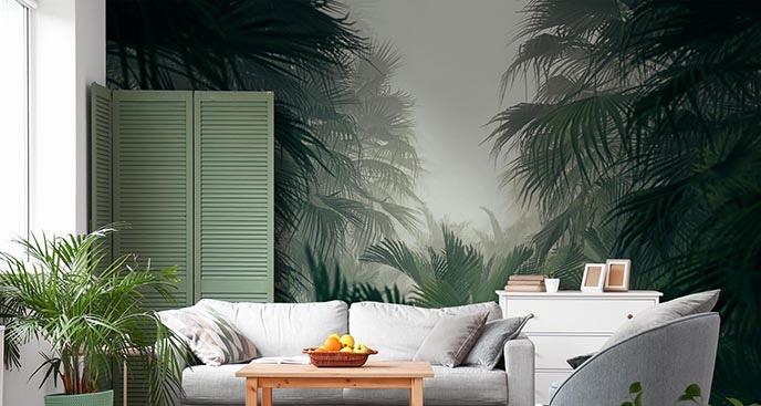 Fototapeta z dżunglą we mgle