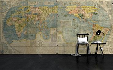 Fototapeta z kontynentami mapa świata