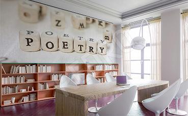 Fototapeta z napisami do księgarni