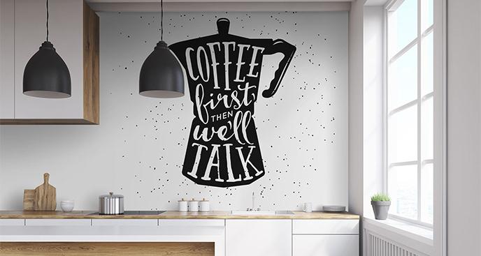 Fototapeta typograficzna w czerni i bieli